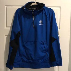 Ralph Lauren RLX 1/4 zip Hooded Sweatshirt XL